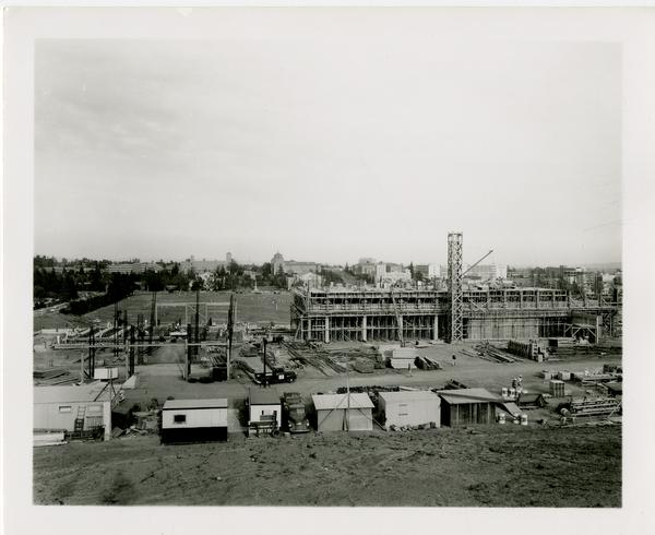 Sproul Residential Hall during construction