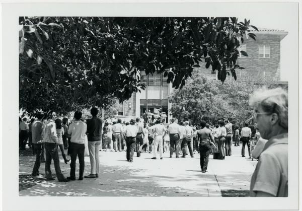 Students marching into building, May 16, 1969