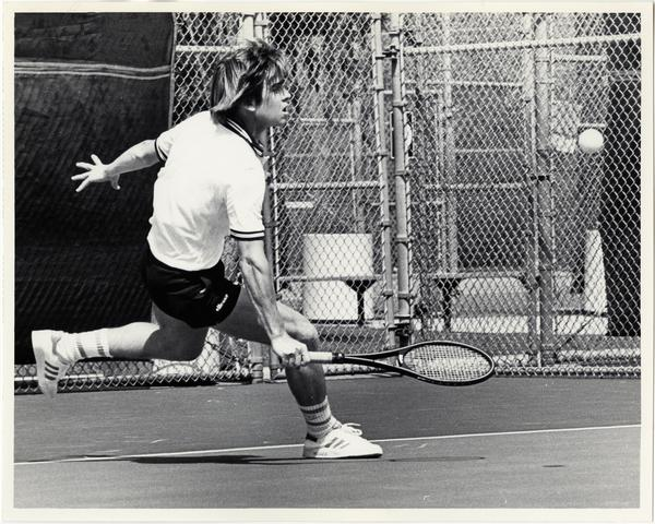UCLA tennis team member, Blaine Willenborg, ca. 1982