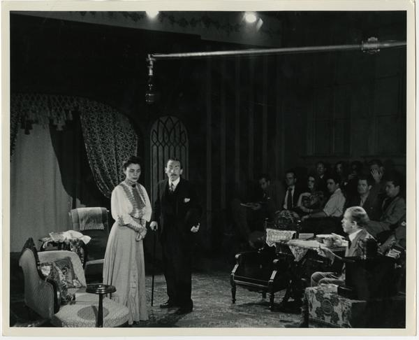 During the filming of a record of play in Royce Hall 170