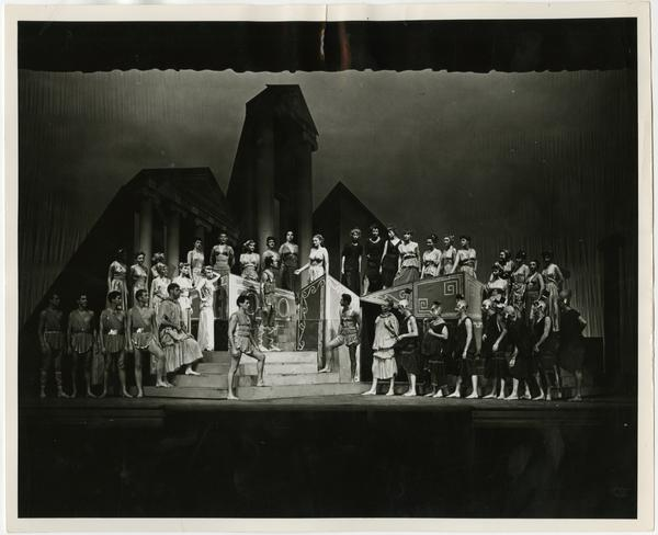 """Theater Arts Department, """"Lysistrato"""" on main stage of Royce Hall"""