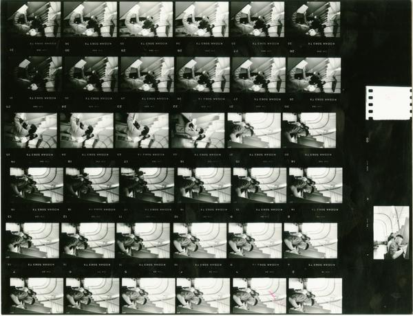 Contact sheet of Temporary Powell Library interior