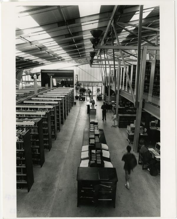Interior view of Temporary Powell Library