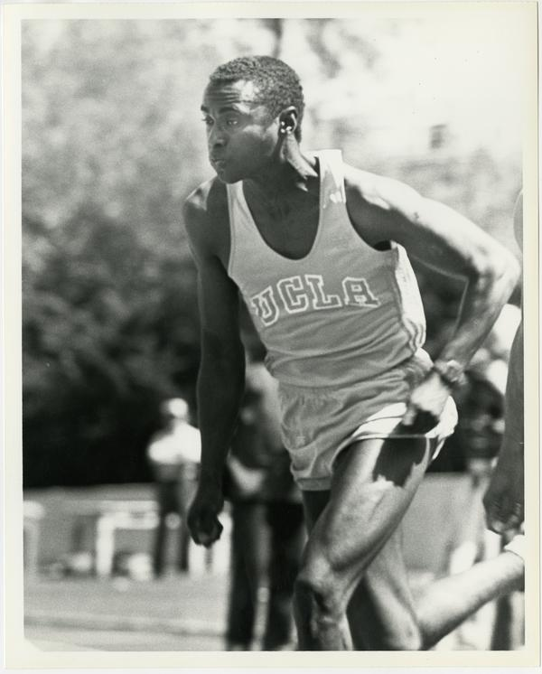 UCLA track team member running