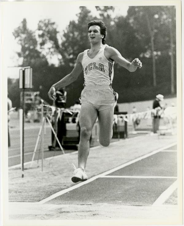 UCLA track team member, Tom Tataseiore, running