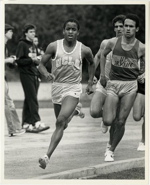 UCLA track team racing against UC Irvine track team