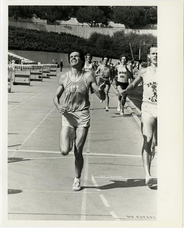 UCLA track team member running