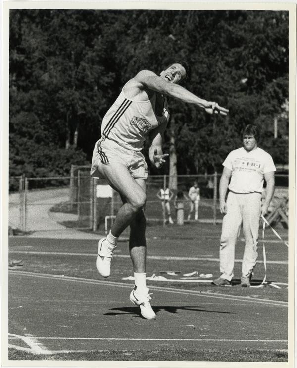 UCLA track team member in action