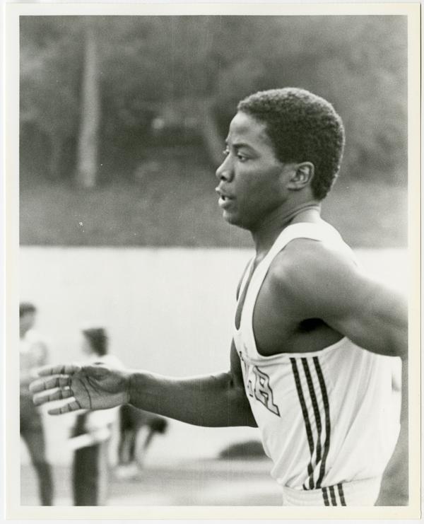 UCLA track team member, Eric Barnum, running