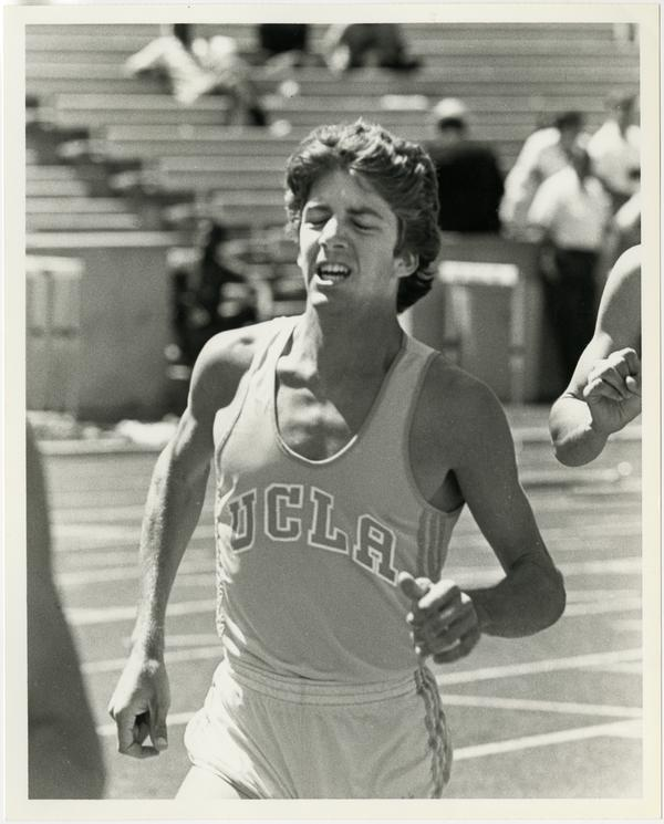UCLA track team member, Rich Broensberger, running