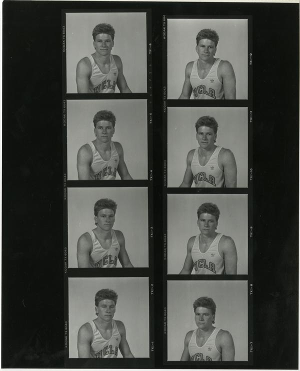 Contact sheet of UCLA track team