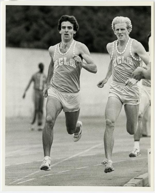 Distance runners Steve Lawrence and Mike Pope