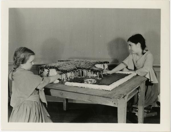 Children working on model at Training School