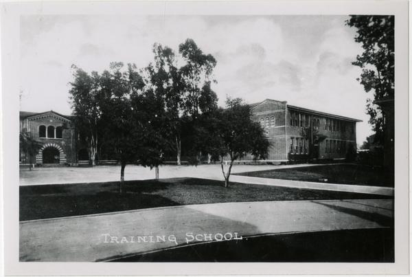 Exterior view of Training School, UC Southern branch