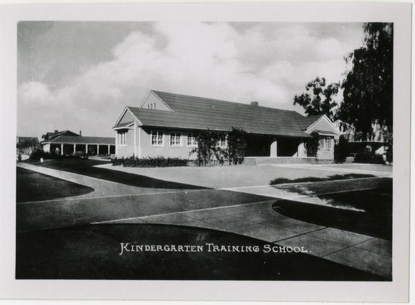 Exterior view of Kindergarten Training School, UC Southern branch