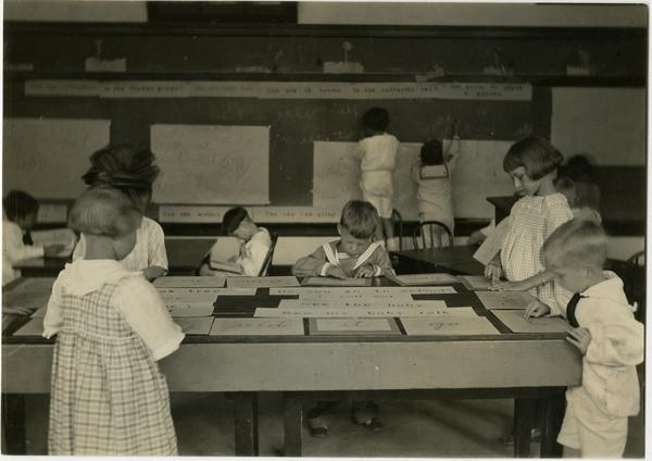 Children in Training School classroom at Southern branch