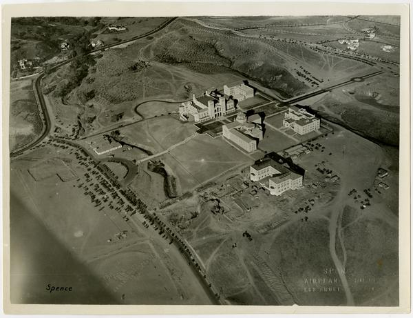 Aerial view of UCLA campus, November 22, 1929