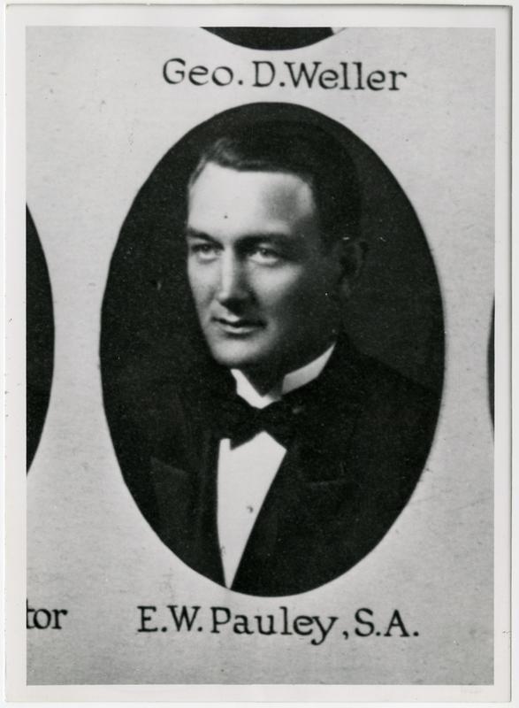 Portrait of E.W. Pauley, ca. 1923