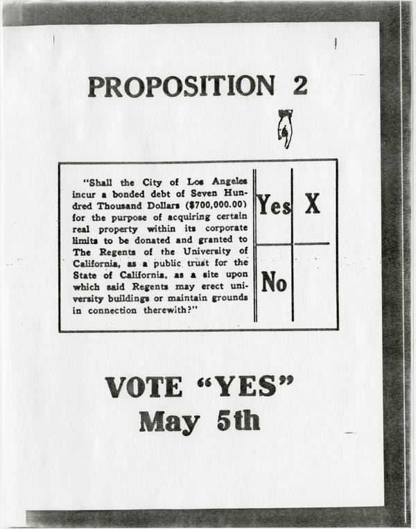 Proposition 2 regarding University Bonds