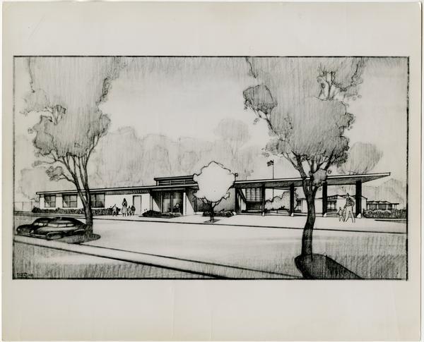 University Elementary School architectural rendering