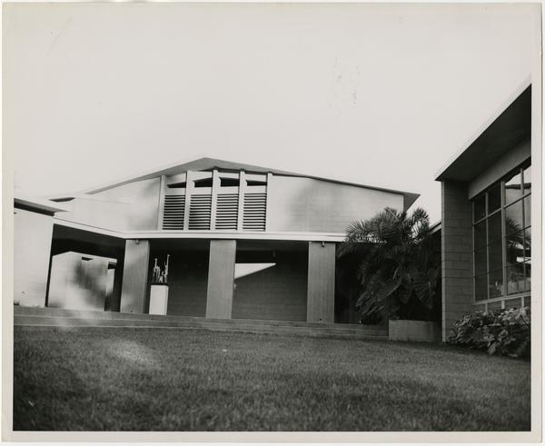 Exterior view of University Elementary School, November 8, 1950
