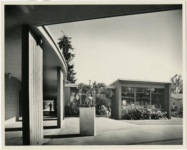 Exterior view of University Elementary School, ca. May 1951
