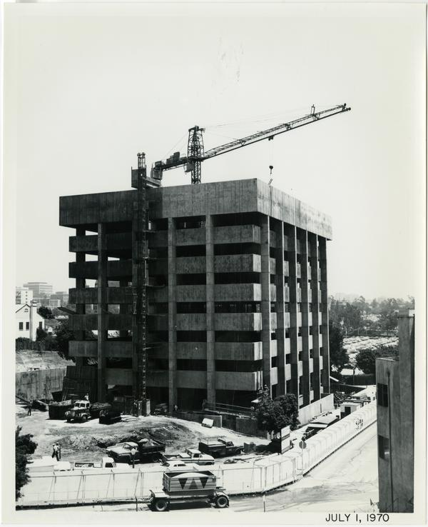 University Extension building during construction, July 1, 1970