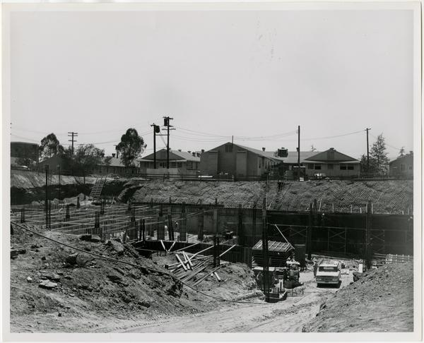 University Research Library during construction, June 29, 1962