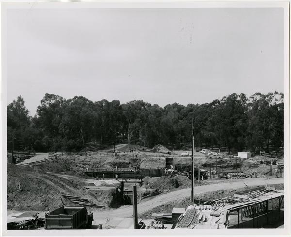 University Research Library during construction, July 6, 1962