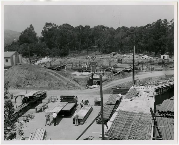 University Research Library during construction