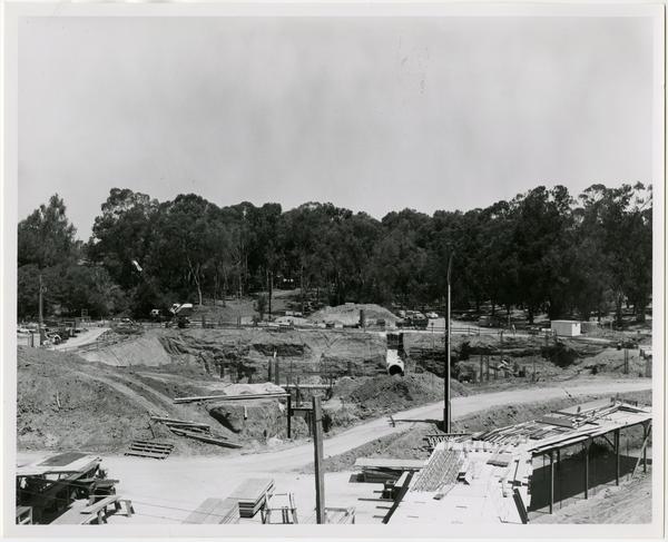 University Research Library during construction, June 15, 1962