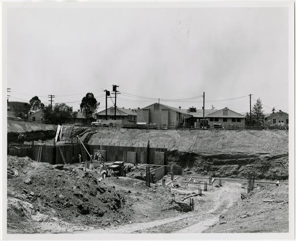 University Research Library during construction, May 25, 1962