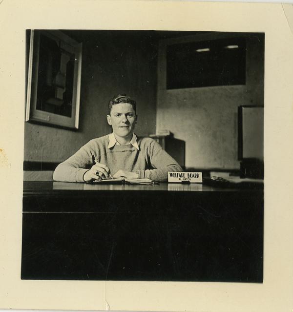Portrait of Al Hatch, member of Welfare Board