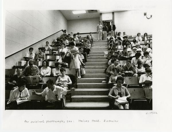 Students in room 39 of Haines Hall, ca. 1962