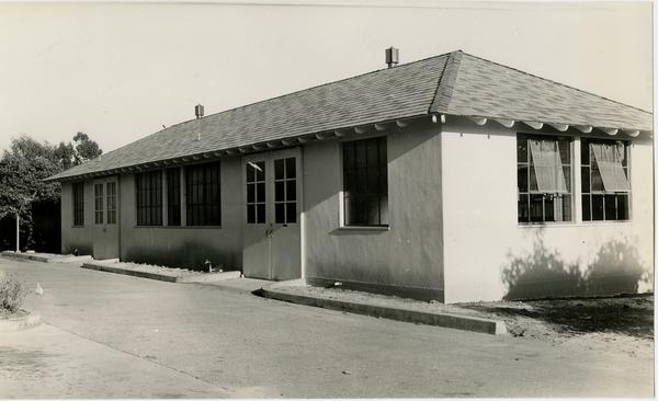 Exterior view of Propagation House used for research and instruction, ca. August 1941