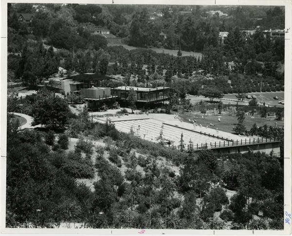 View of Sunset Canyon Recreation Center, ca. 1970