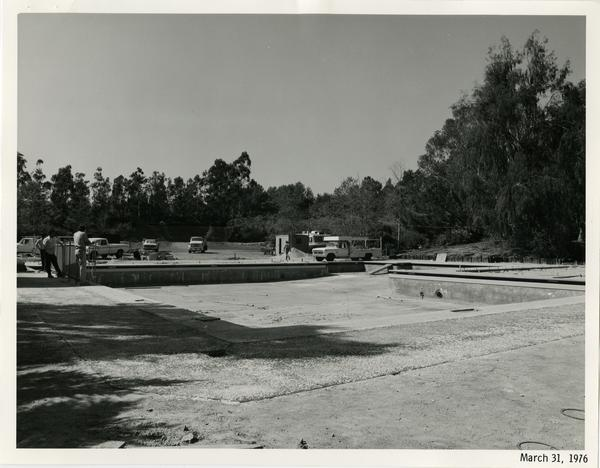 Sunset Canyon Recreational pool during construction, March 31, 1976