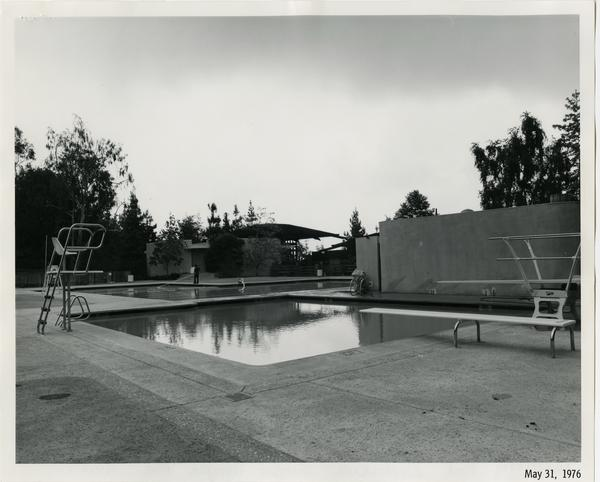Sunset Canyon Recreational pool during construction, May 31, 1976