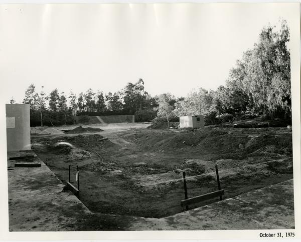 Sunset Canyon Recreational pool during construction, October 31, 1975