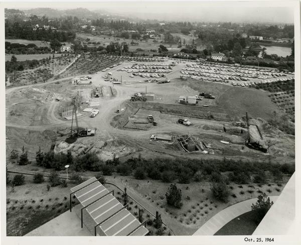 Sunset Canyon Recreational during construction, October 25, 1974