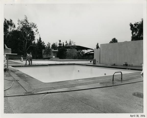 Sunset Canyon Recreational pool during construction, April 30, 1976