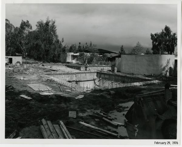 Sunset Canyon Recreational pool during construction, February 29, 1976