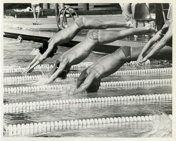 UCLA Swim team members in action