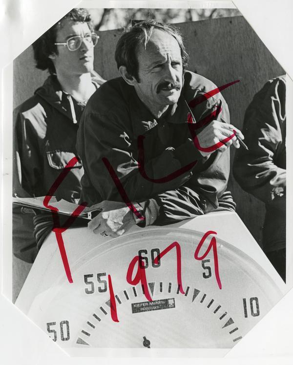 Portrait of Ron Ballatore, UCLA head swimming coach, ca. 1979