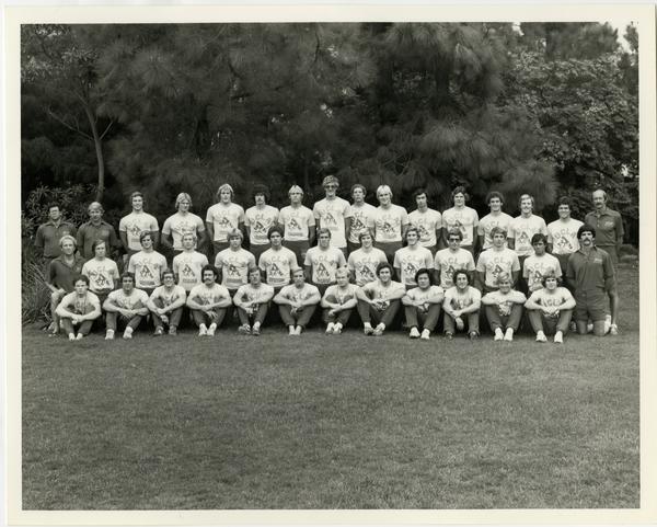 Portrait of 1980 Men's Swim Team