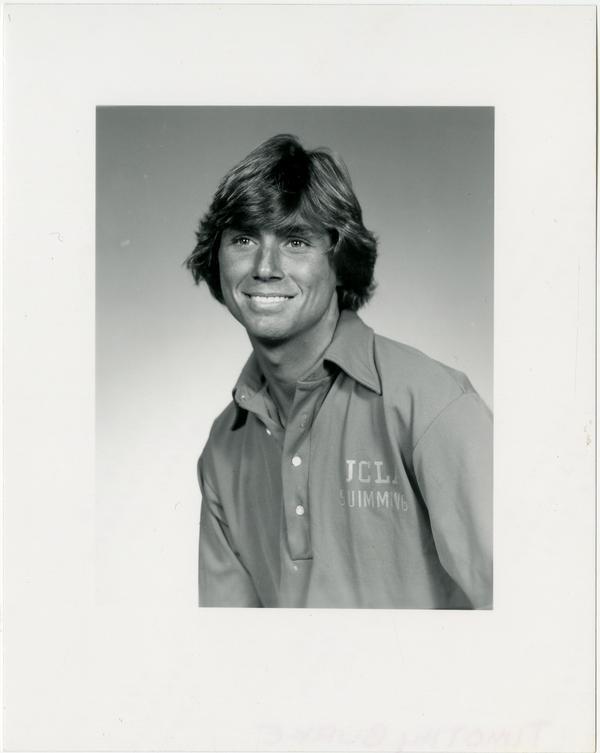 Portrait of swim team member, Timothy Burke