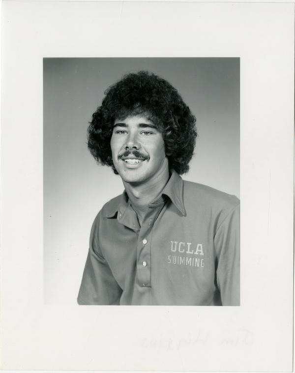 Portrait of swim team member, Jim Higgins