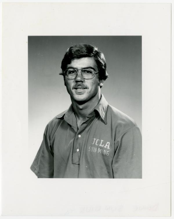 Portrait of swim team member, Dave Sundius
