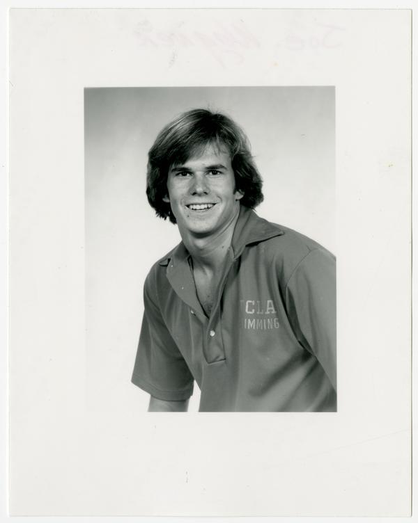 Portrait of swim team member, Joe Wagner