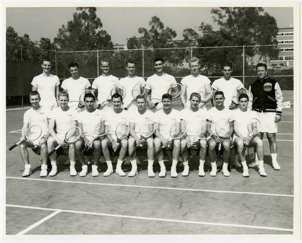 UCLA's 1954 NCAA championship tennis team